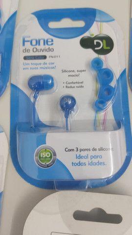 Fone de ouvido DL série color - RN-011 (kit com 5) - Na caixa - Foto 4