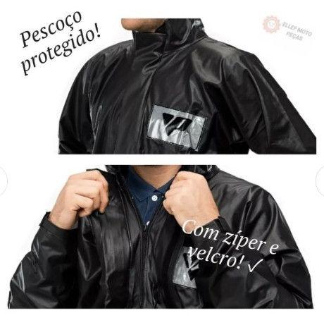 Capa De Chuva Pantaneiro Pvc Com Bolso Impermeável - Foto 5