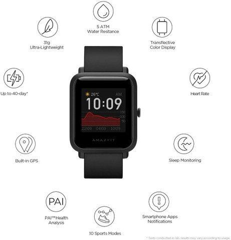 Smartwatch Xiaomi Amazfit Bip S original - Foto 5