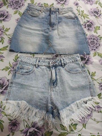Saia e short jeans - Foto 4
