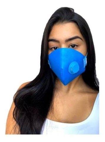 Kit 50 Máscaras Descartáveis Respirador Tipo N95 +válvula - Foto 4