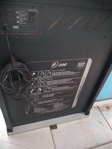 Vendo essa caixa amplificada 500 watts - Foto 3