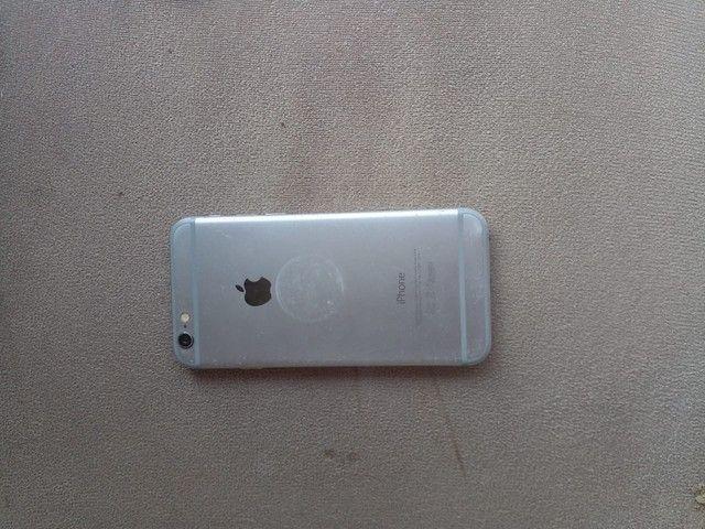 Troco iPhone 6 64 Gb bateria 100% por Android ou pc gamer - Foto 2