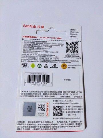 Cartão Micro SD Sandisk 128GB Original e Lacrado + Brinde !!  - Foto 2