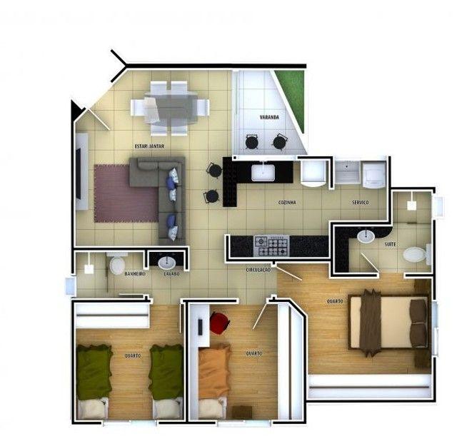 Apartamento à venda, 3 quartos, 1 suíte, 2 vagas, Ouro Preto - Belo Horizonte/MG - Foto 11