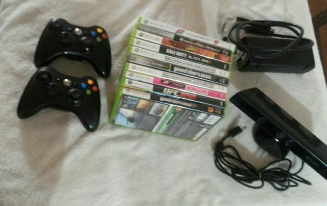 Kit acessórios e jogos xbox 360