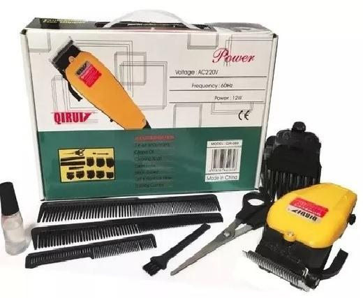 a38cf6741 Maquina Corta Cabelo Barba Profissional 110v C/ Kit Completo Para Barbearia