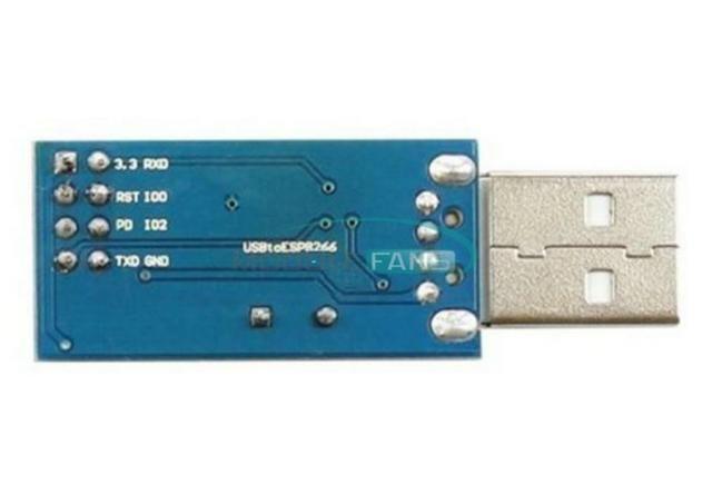 COD-AM158 CH340T ESP8266 Serial sem fio Wifi módulo bietápica placa adaptador USB Ardu - Foto 3