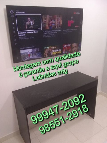 Montador de móveis com instalação de tv
