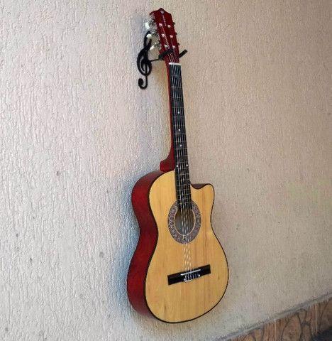 Suporte De Parede Formato Clave de Sol Para Guitarra Violão Baixo Cavaquinho Banjo Ukulele - Foto 6