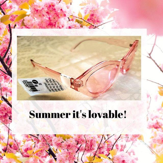 Óculos de sol feminino rosa Acessories, gatinho revisitado. Novo. - Foto 3