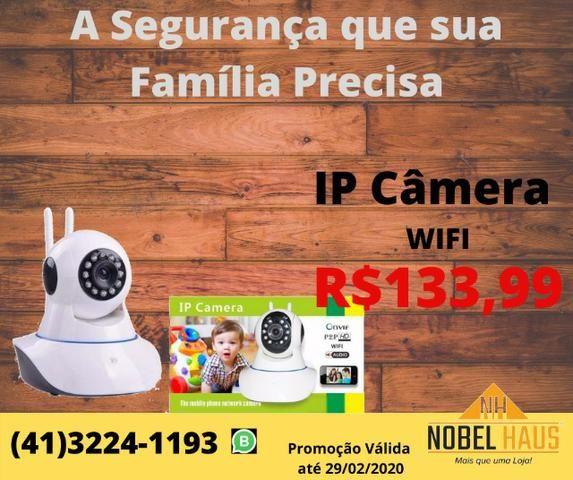 Câmera Ip Wifi Segurança Hd Wireless P2p Visão Noturna 2 Antenas Onvif Captação Áudio