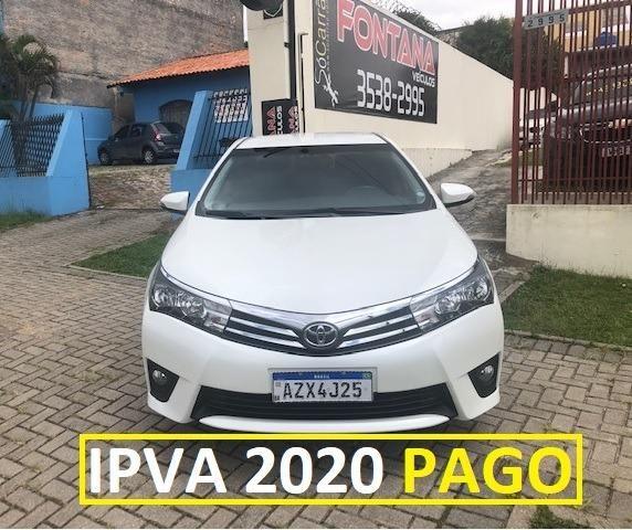 Toyota Corolla XEi 2.0 2015/2016 Placa A Único Dono Top de Linha IPVA 2020 PAGO