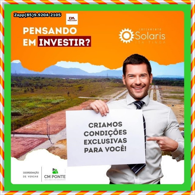 Loteamento Solaris Gererau em Itaitinga - Garanta já o seu @!#$ - Foto 7