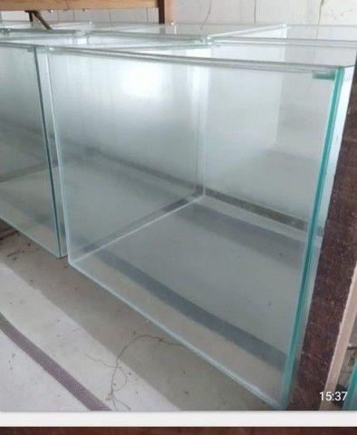 Aquário 50x50x45 - vidro de 5mm- 112 litros.