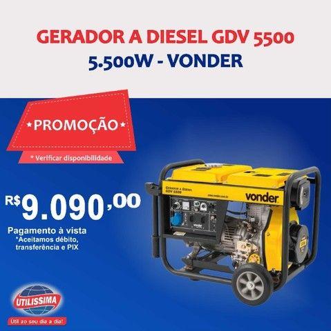 Gerador à Diesel 5500W GDV 5500 110/220V Vonder ? Entrega grátis