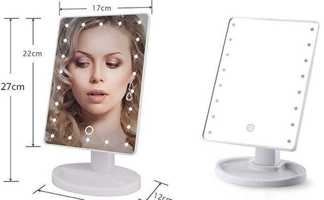 Espelho de mesa portátil com luz led - Foto 3