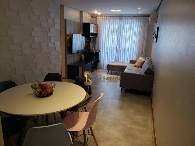 Apartamento com 2 dormitórios à venda, 70 m² por R$ 485.000,00 - Aparecida - Santos/SP - Foto 2