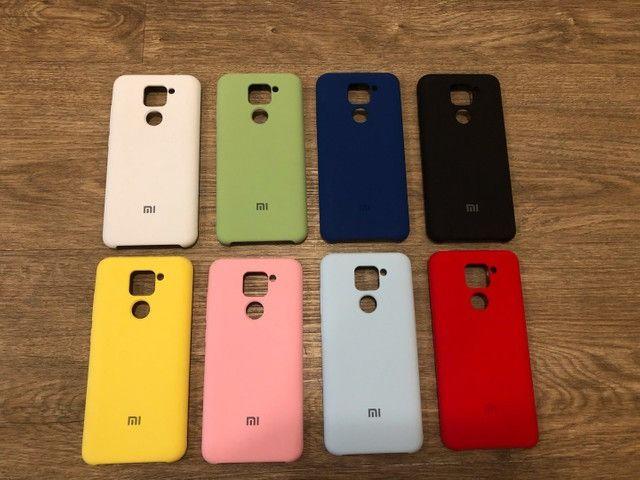 Pronta Entrega Capa Case Capinha Anti Impacto Xiaomi Redmi Note 9 Transparente e Colorida