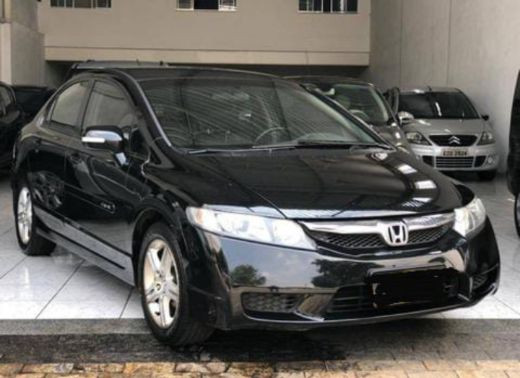 Honda Civic preto 1.8lxs 16v Flex 4p automático ano 2010  - Foto 3