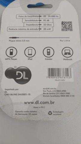 Fone de ouvido DL série color - RN-011 (kit com 5) - Na caixa