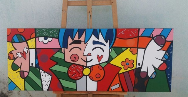 Quadro pintura estilo pop arte - Foto 2