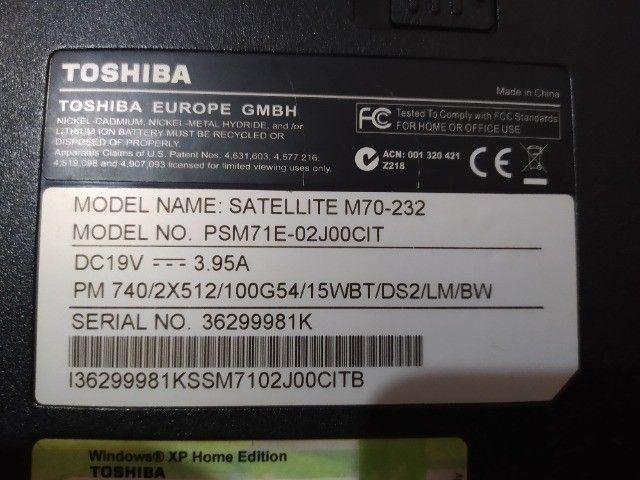 Notebook Toshiba (Não funciona) - Foto 5