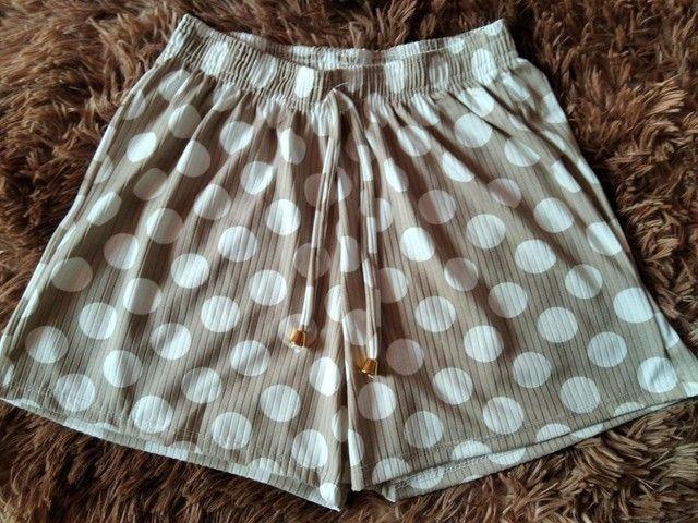 Shorts Canelados Adultos - Foto 4