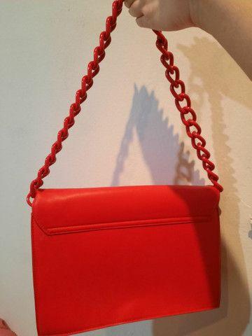 Bolsa vermelha forever 21 - Foto 2