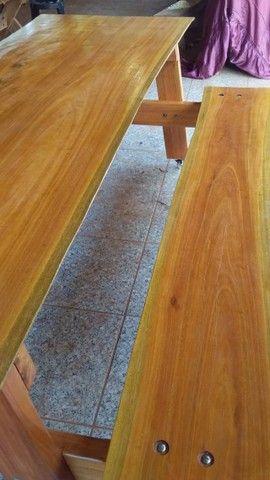 Mesa com bancos fixos - Foto 3