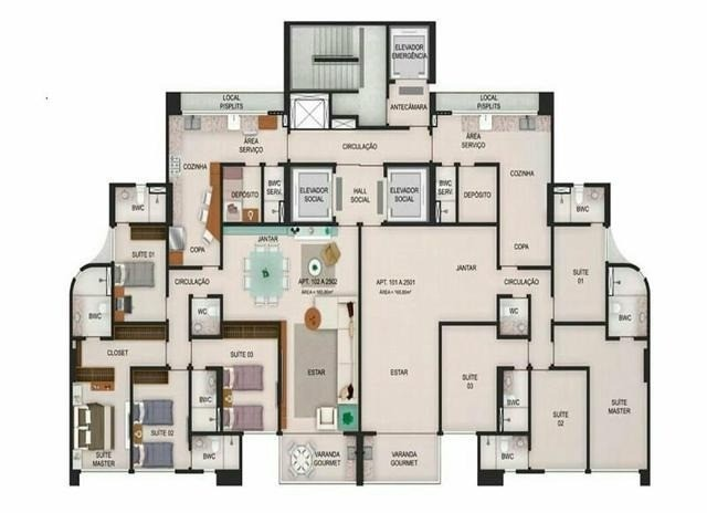 RB 080 Oportunidade Apart, incrível em Casa Forte - 04 Suítes - 165m² - Edf. Hilson Macedo - Foto 4