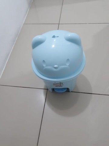Lixeira ursinho azul bebê