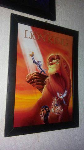 Quadro O Rei Leão + Caixa Vhs - Foto 2