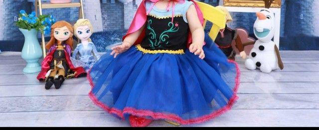 vestido fantasia anna do frozen<br> - Foto 3