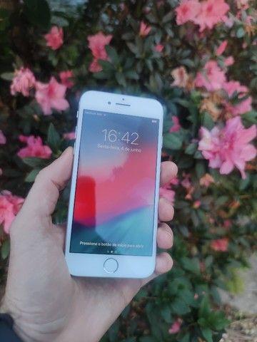 iPhone 7 128gb Prata - Excelente!! 12x de 123,91  no cartão. C/Garantia - Foto 5