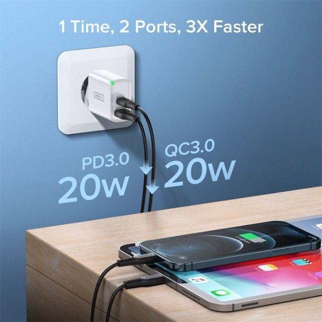 Carregador Ultra Rápido para Smartphones UNIU 20W - Foto 3
