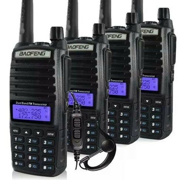 Rádio Comunicador Baofeng Lote 4 Uv-82 Dual Band Rádio Fm