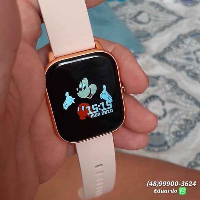 Relógio inteligente Smartwatch P8!!  monitor Cardíaco, sono, etc (NOVO) - Foto 2