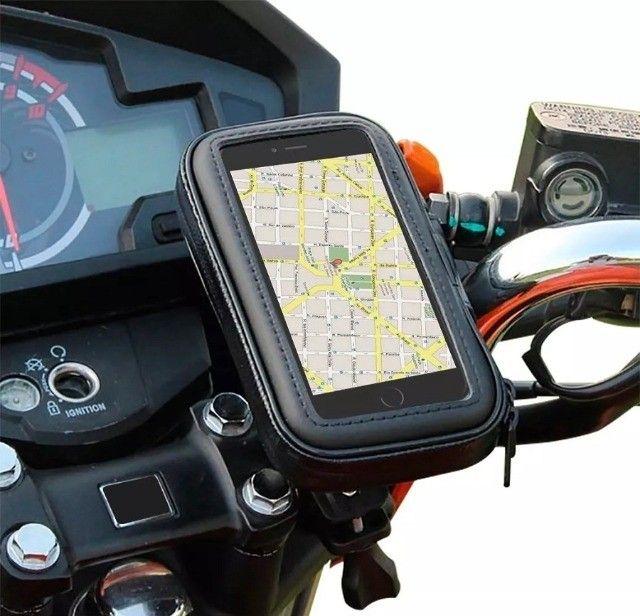 Suporte Case Capa Celular À Prova D'água 6,3'' Gps Moto Bike - Foto 2