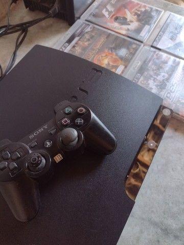 Playstation 3 Slim 160GB Black *Leia A Descrição* - Foto 2