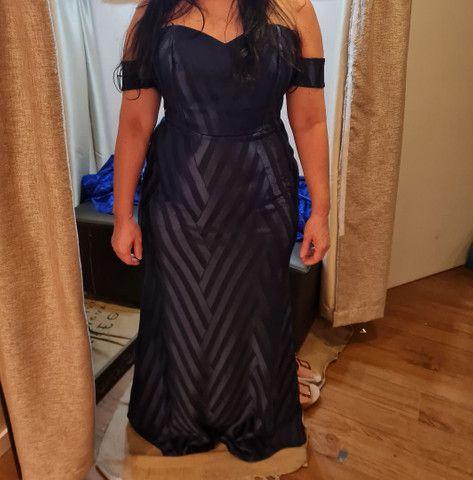 Vestido de Festa Azul Escuro - Foto 2