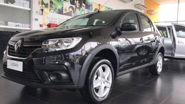 Renault Logan Zen 1.0 2022 Ent de R$19.500,00 + 48X DE R$ 995,00 + parcela final