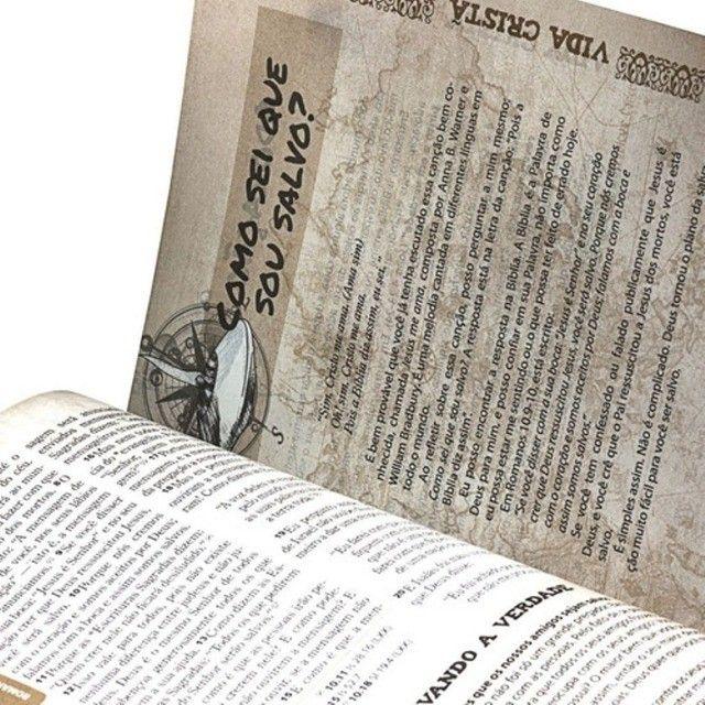 Bíblia Das Descobertas Para Adolescentes - Couro Marrom Sbb - Foto 6