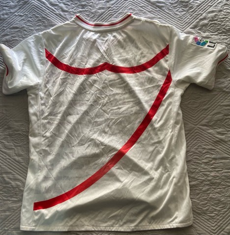 Camisa Oficial Joma (12 anos infantil) - Sevilla time espanhol - Foto 2