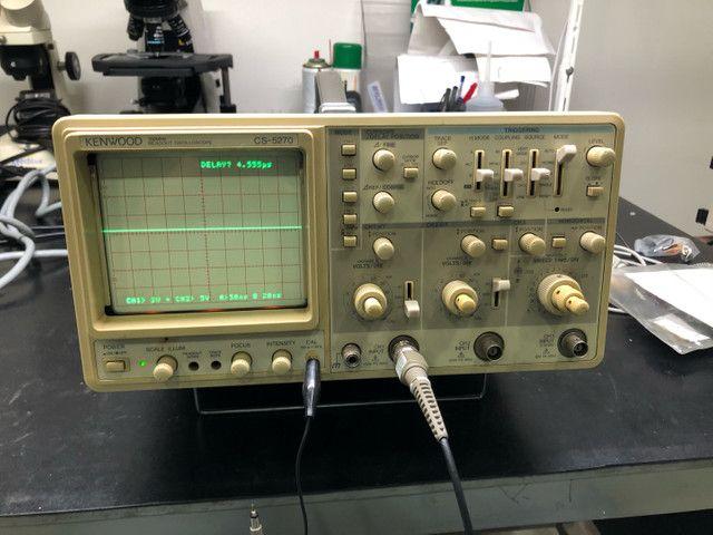 Osciloscópio kenwood CS5270 100Mhz 3 canais