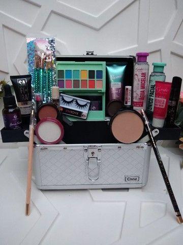 Para Presentear quem vc Ama Maleta de Maquiagem  Completa Com 22 Itens. - Foto 2