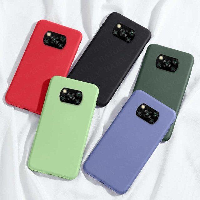 Pronta Entrega Capa Case Anti Impacto Xiaomi Poco X3 Transparente e Coloridas