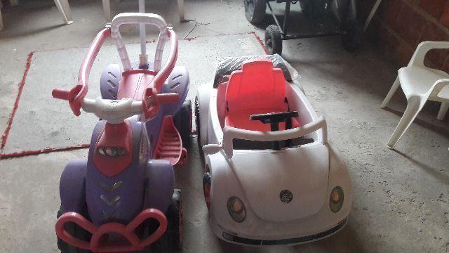 Carro e moto de de criança