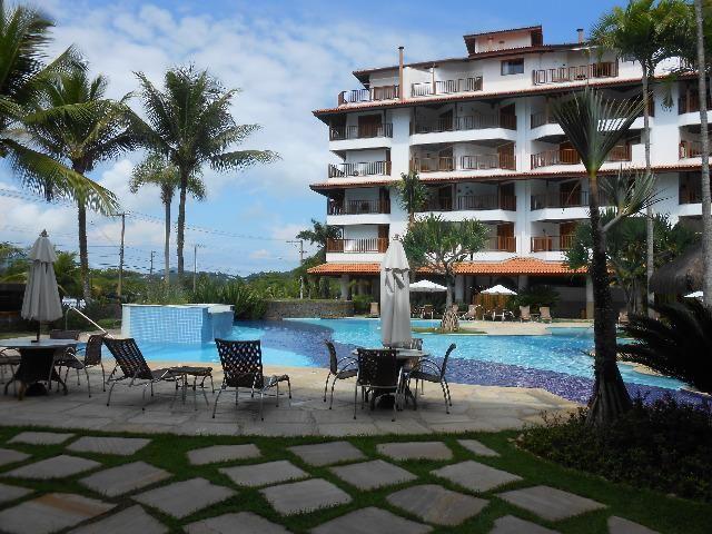 Apto 3 dorm no Grand Bali, frente mar, segurança 24 hs, lazer completo, mobiliado, ar cond