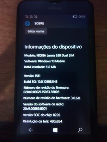 Celular Smartphone Nokia Lumia 630 Dual Sim Leia O Anúncio